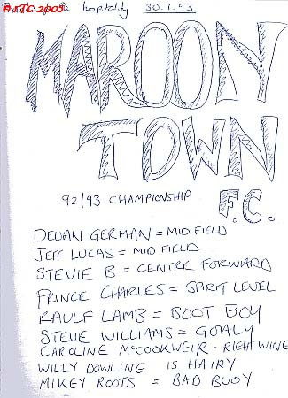 Maroon Town from guestbook 1993