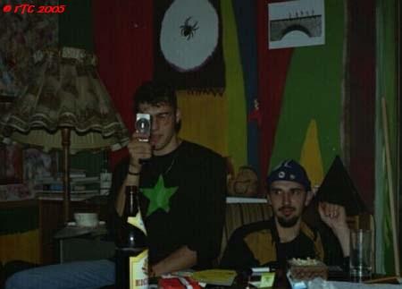 René and Claude at Peacestreet ca. 1993