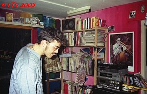 René in the living room at Peacestreet 1996