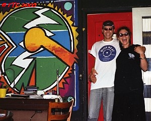 René & Juliette (in Paris she will meet the Skasplash) at Peacestreet 1996
