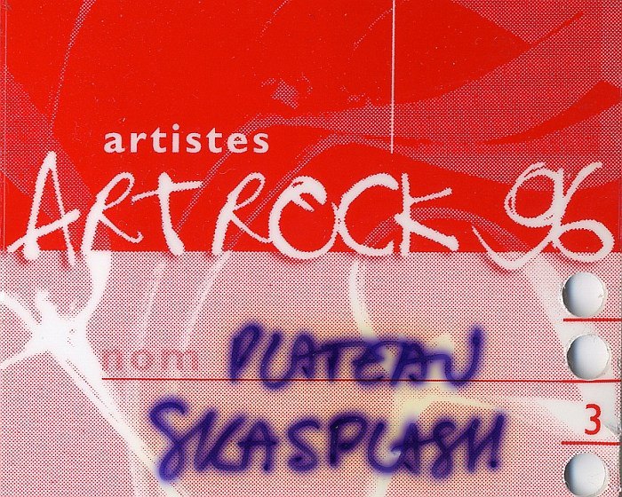 Backstage pass Art Rock Festival 1996