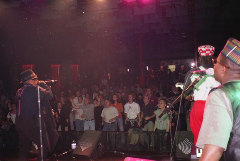 Laurel Aitken & House Of Rhythm (Bessa and Kirk Thorne from behind), Palladium Geneva 1996