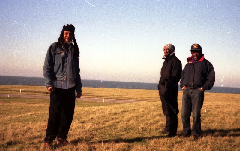 Lloyd Brevett, Cutty Williams, Devon James somewhere in Netherlands on the way to Eindhoven 1996