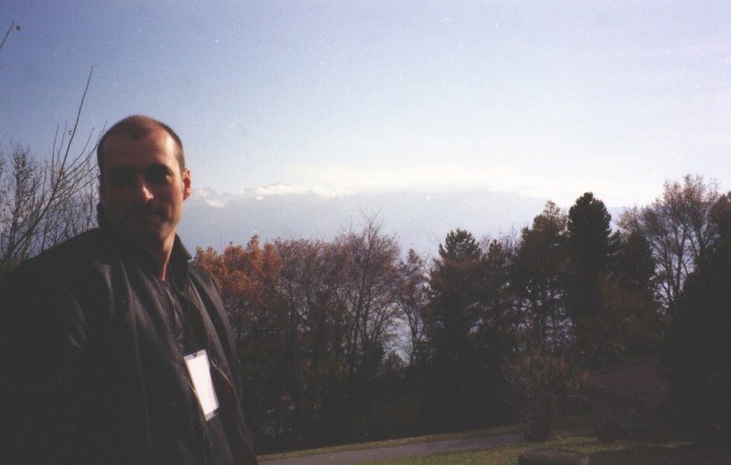 Jeff Lucas on the playground at Lac Léman 1996