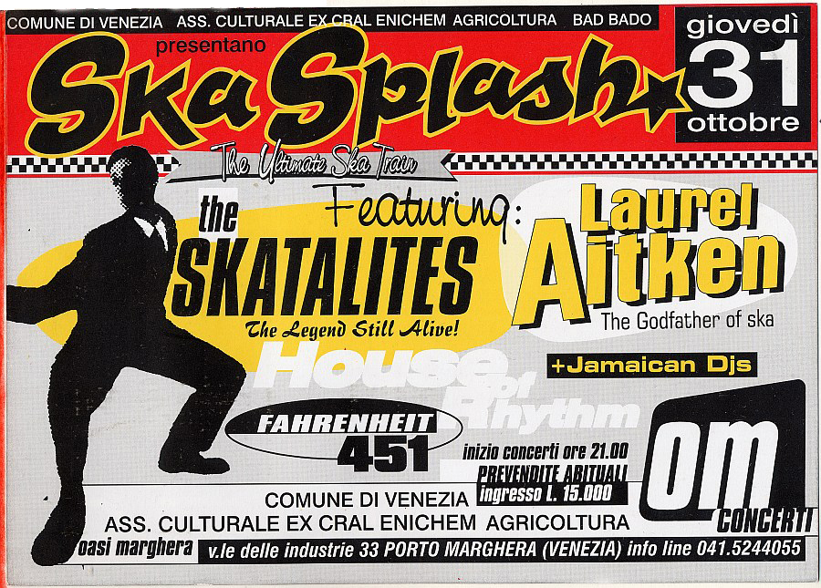 Flyer for the Skasplash at Oasi, Marghera (Venice) 1996