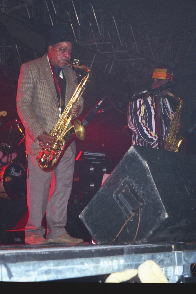 The Skatalites (Rolando Alphonso, Lester Sterling) at Festival Art Rock, Saint-Brieuc 1996