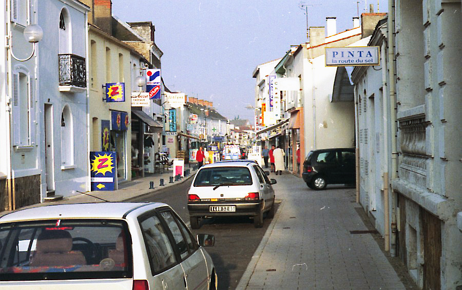 Main shopping street in Challans 1996