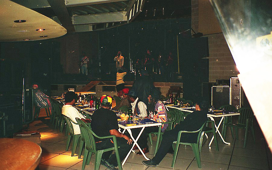 Soundcheck House Of Rhythm while The Skatalites having diner at Le Bikini, Toulouse 1996
