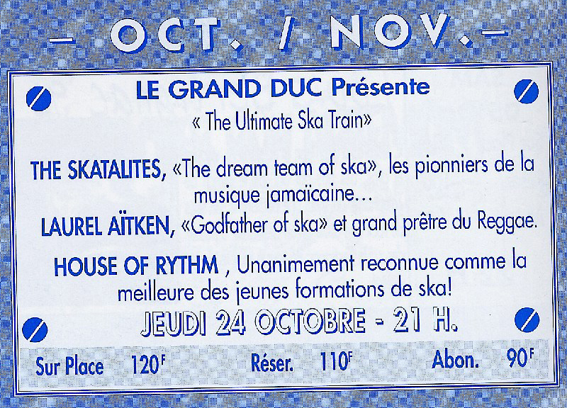 Programm Le Grand Duc, Apremont, October/November 1996