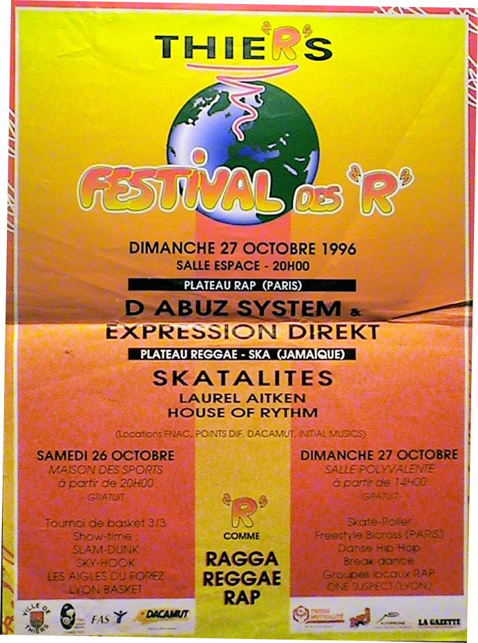 Poster Festival des R, Thiers 1996