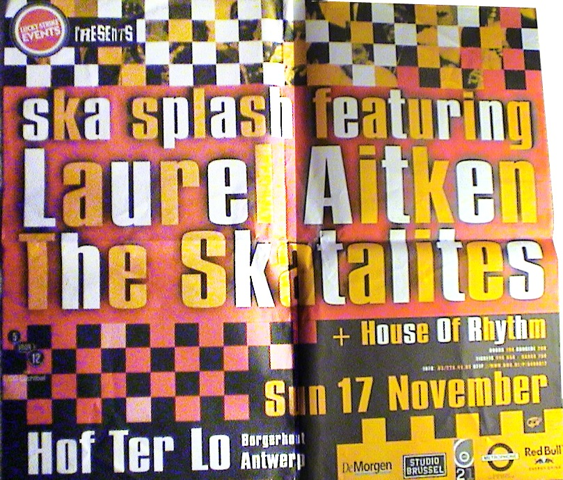 Skasplash poster for Hof Ter Lo, Antwerp, Belgium 1996