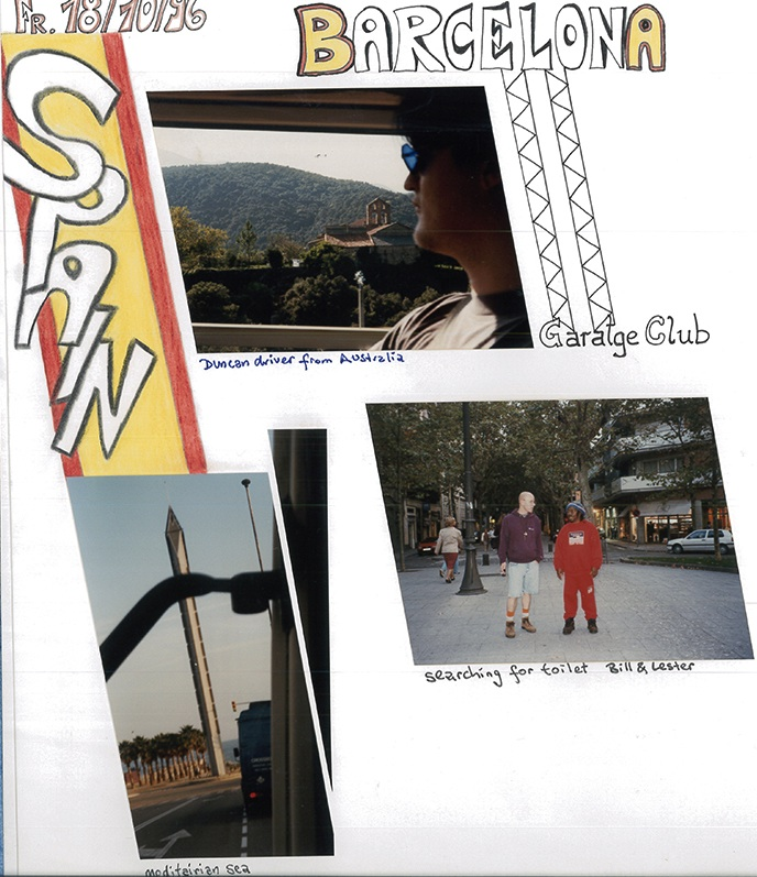 Page out of my foto album, Barcelona 1996