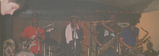 House Of Rhythm, Kirk Thorne, Cutty Williams, Tony Looby, Dave Nicholson (left to right), Bordeaux 1996