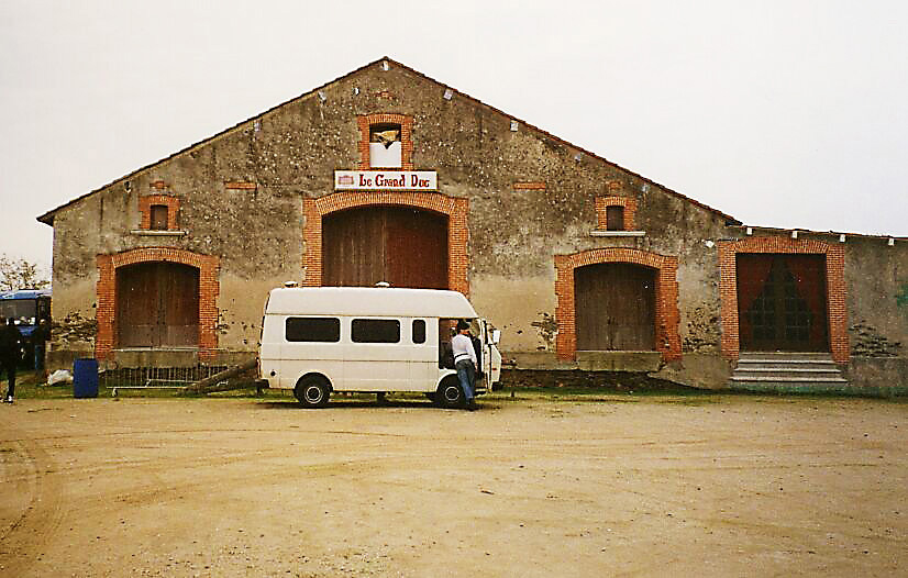 Le Grand Duc with Duncan and the white van, Apremont 1996