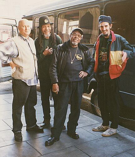 Jeremy, Lloyd Brevett, Lloyd Knibb and Claude, Geneva 1996