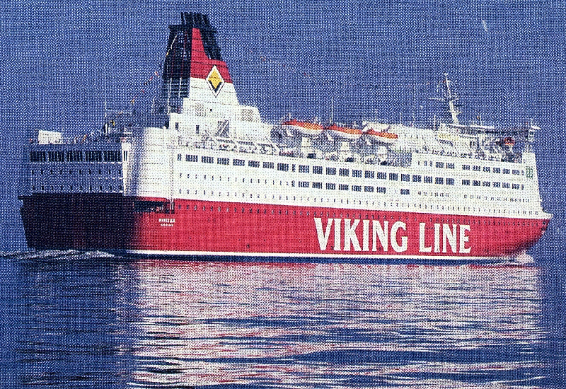 Leaflet of our ferry from Viking Line 1996