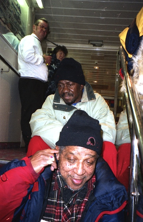 Lester Sterling and Rolando Alphonso on the ferryboat from Germany to Danmark 1996