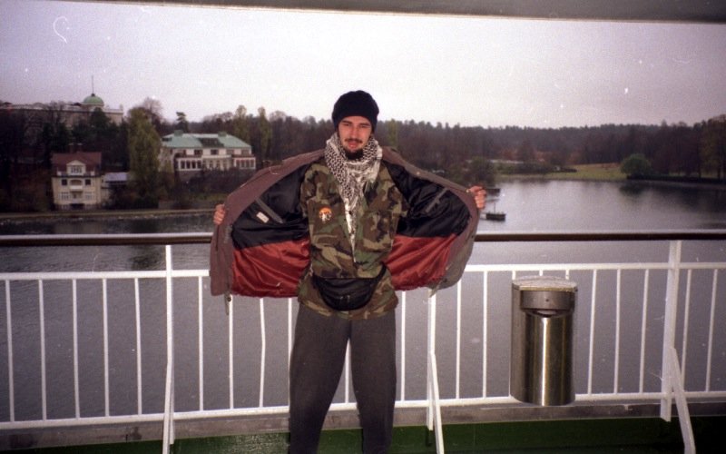 Ras Claude on the ferry short before Stockholm 1996