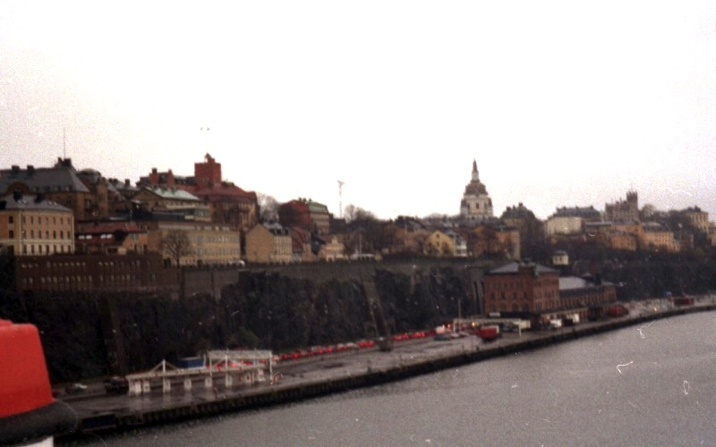 View to Stockholm from the ferry 1996