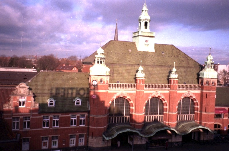 Lubeck main station view from the hotel 1996