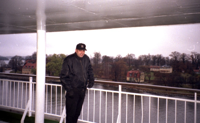 Jeff Lucas on the ferry short before Stockholm 1996