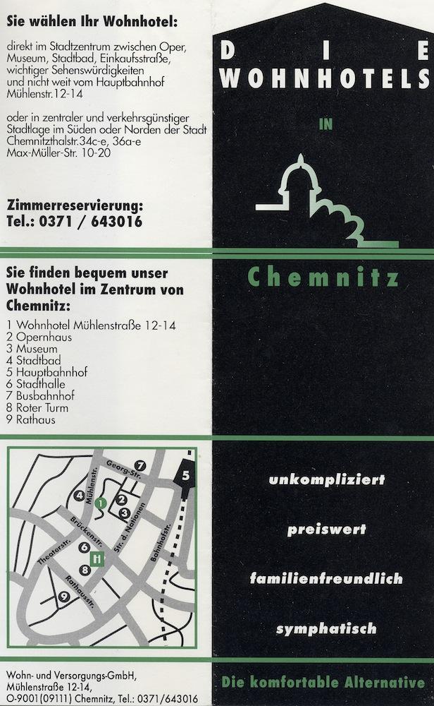 Flat-hotel in Chemnitz 1996