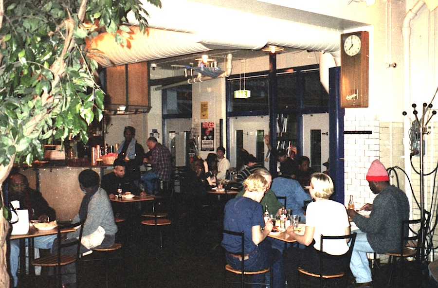 The Skasplash at diner in Mejeriet, Lund, Sweden 1996