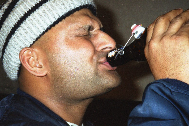 Shay birthday picture backstage Fabrik, Hamburg 1996