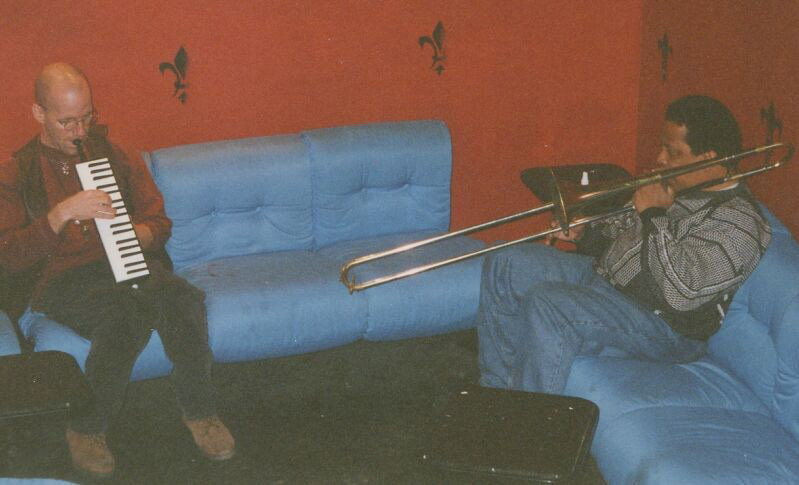 Bill Smith and Will Clark warm-up session in the club Barrumba, Torino 1996