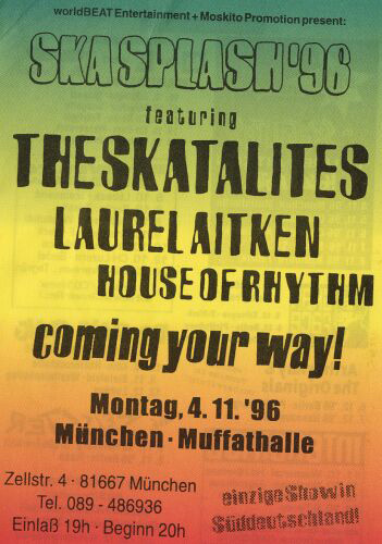 Flyer Skasplash Muffathalle Munich 1996