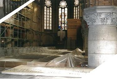 Inside the church in Chemnitz 1996