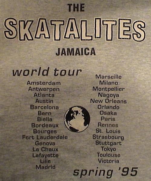 T-Shirt of The Skatalites world tour 1995