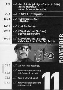 Skasplash 1996 flyer, FZW Dortmund